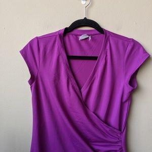 Athleta Dresses - Athleta Nectar Purple Faux Wrap Mini Dress size S